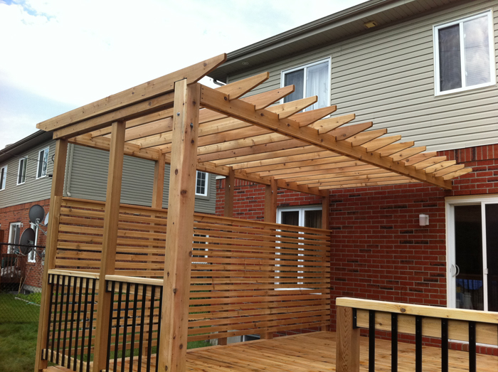 Patio Terrasse En Bois Cedre Rouge Laval Cedar Deck Pictures to pin on